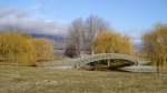 Perriam Cove, foot bridge, Pisa Moorings, Central Otago